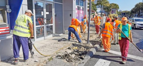 Programul de modernizare a tramei stradale acoperă tot mai multe zone din oraș