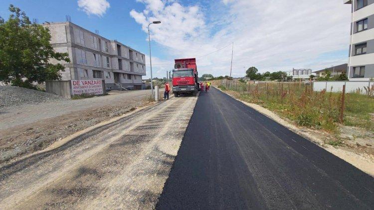 Strada Haricleea Darclée a fost îmbrăcată în asfalt