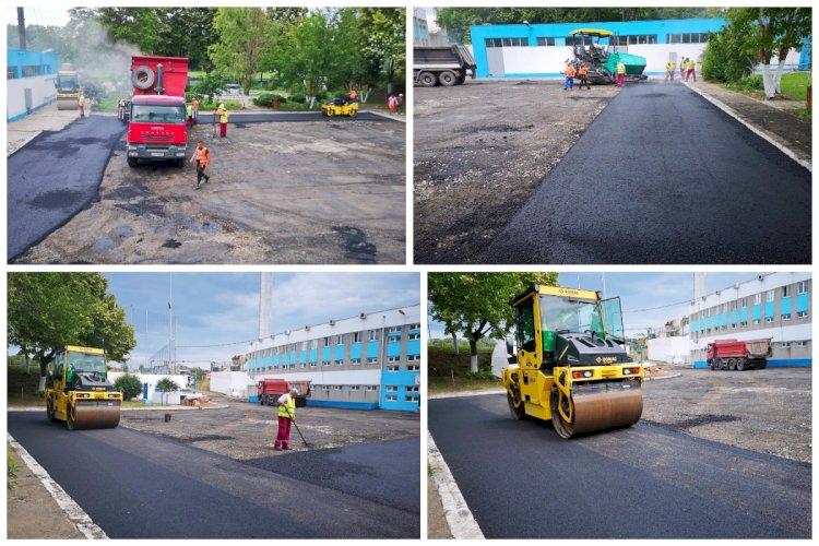 Se reabilitează parcările din incinta Complexului Sportiv Gheorghe Hagi din Constanța