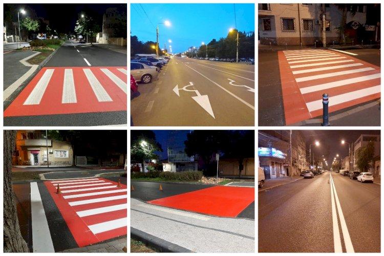 Se reface infrastructura de semnalizare rutieră pe arterele reabilitate