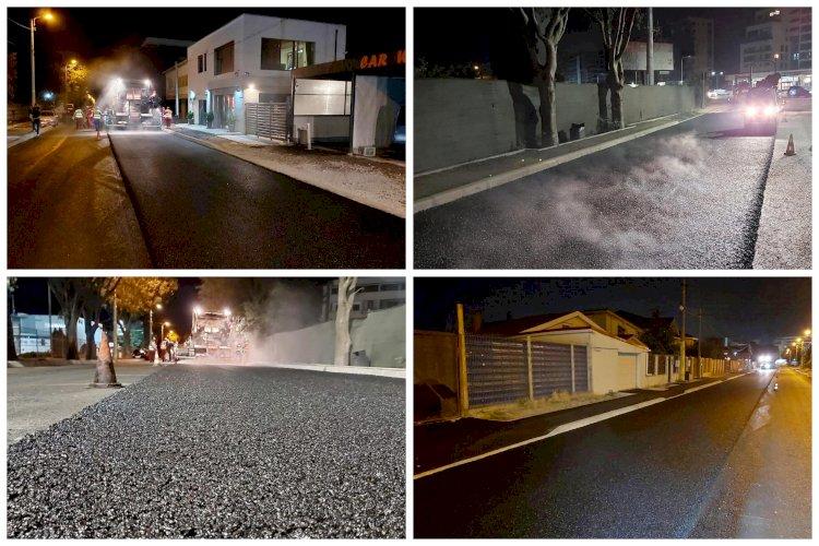 Lucrări de asfaltare pe strada Dumbrăveni