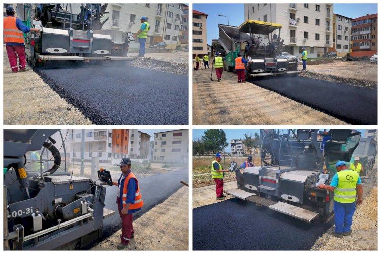 Lucrări de asfaltare strada Ionel Perlea