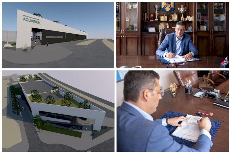 Președintele CJC, Horia Țuțuianu a semnat documentele necesare construirii unui acvariu nou în Constanța