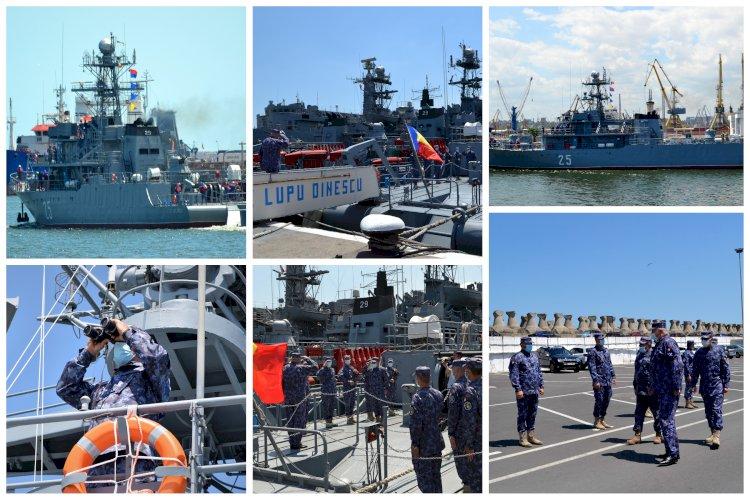 Dragorul maritim Locotenent Lupu Dinescu execută misiuni NATO în Marea Neagră