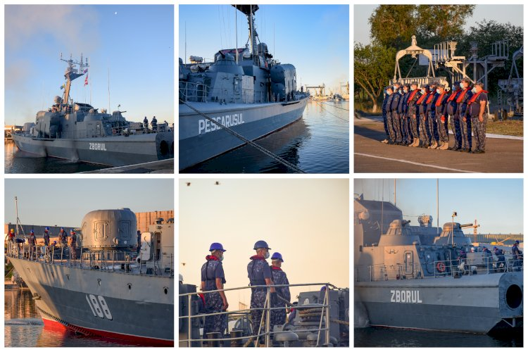 Trei nave militare românești participă la un exercițiu multinațional Breeze 20, în Marea Neagră