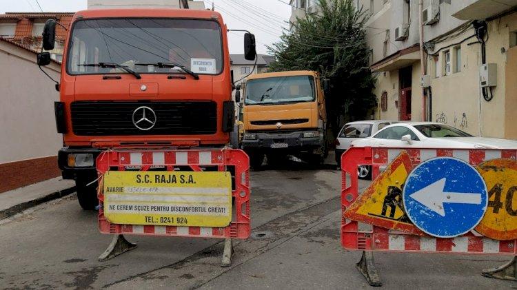 Constanța: Trafic îngreunat pe strada Ion Lahovari!