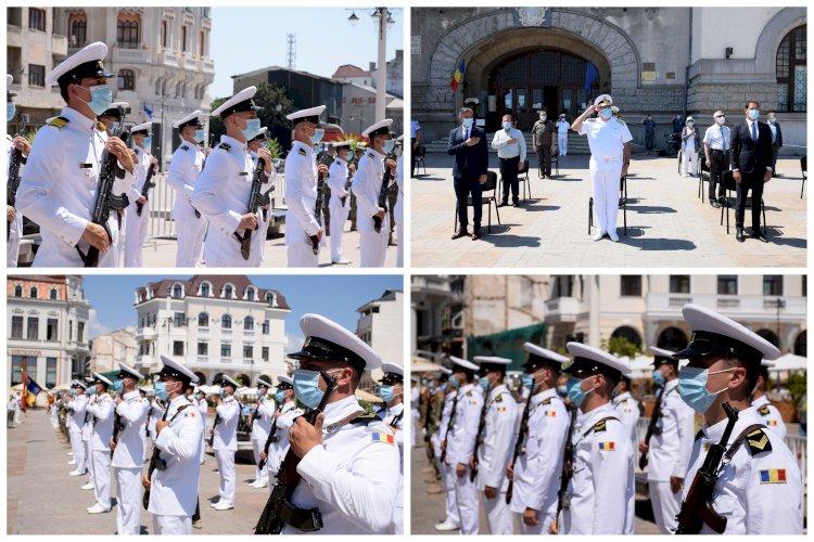 Ziua Imnului Național marcată la Constanța de marinarii militari