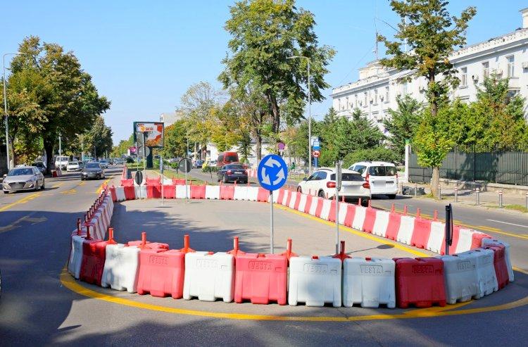 Sensul giratoriu situat la intersecția bulevardului Mamaia cu strada Renașterii va fi desființat