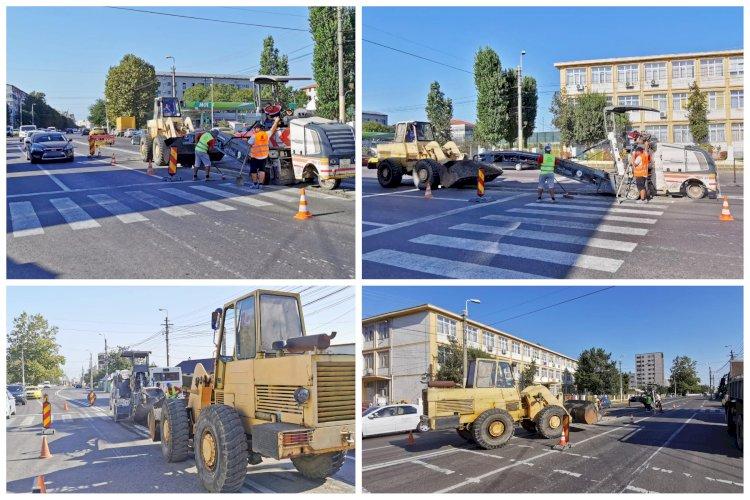 """Trecerea de pietoni din zona Școlii Gimnaziale Nr. 23 """"Constantin Brâncoveanu"""" din Constanța va fi prevăzută cu scuar"""