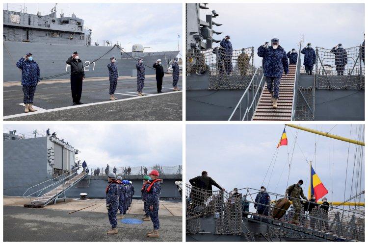 Fregata Regina Maria a revenit în țară Aproape jumătate dintre militari sunt infectați cu COVID-19