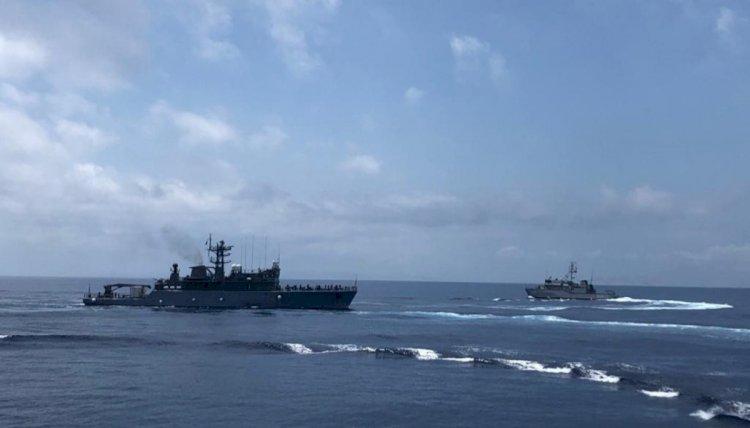 FOTO Instrucție întrunită, în plan naval, terestru și aerian