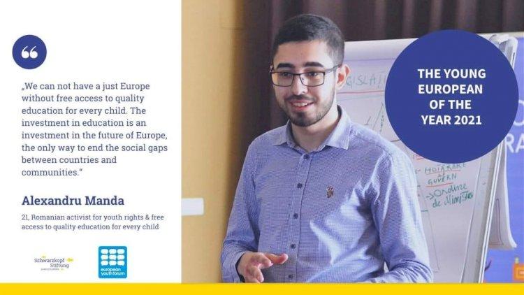 Studentul Constantin-Alexandru Manda, desemnat Tânărul European al Anului 2021
