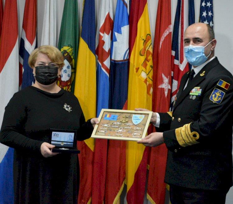 Medalia aniversară a Forțelor Navale Române acordată cu prilejul Zilei NATO în România