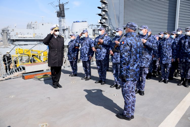 Fregata Regina Maria, la final de misiune NATO
