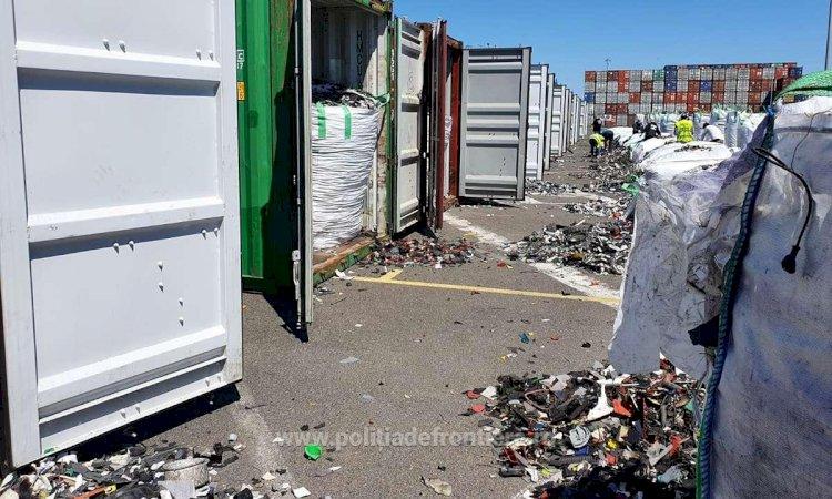 FOTO În Portul Constanța au fost descoperite alte 15 containere cu deșeuri din Germania