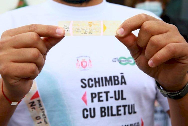 Campania SCHIMBĂ PET-UL CU BILETUL continuă în luna iunie la Constanța