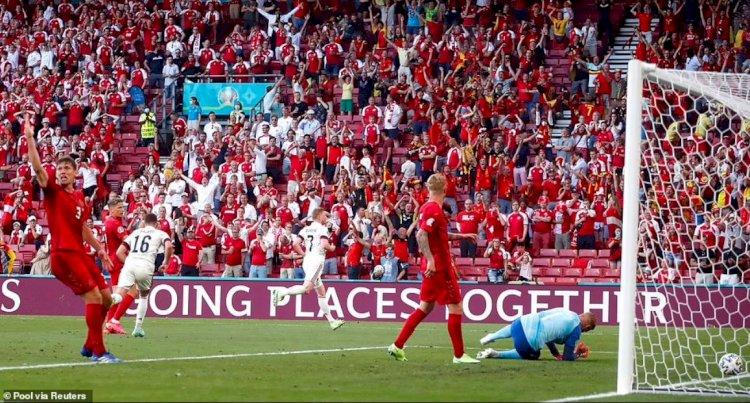 Belgia, calificată în optimi după 2-1 cu Danemarca