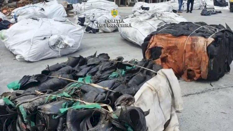 Containere cu 110 tone de cauciuc nevulcanizat, descoperite în Portul Constanţa