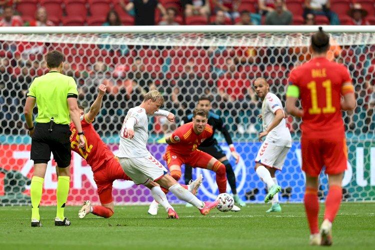 Danemarca, prima echipă calificată în sferturi, după 4-0 cu Ţara Galilor