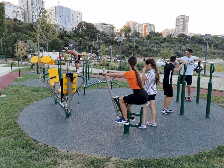 S-a inaugurat primul parc de fitness de pe plaja Modern