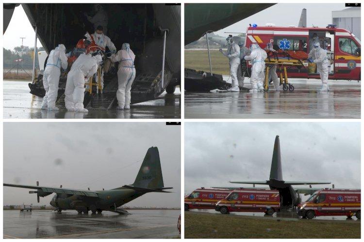 3 pacienţi cu COVID, în stare gravă, transportaţi cu o aeronavă militară la Timişoara